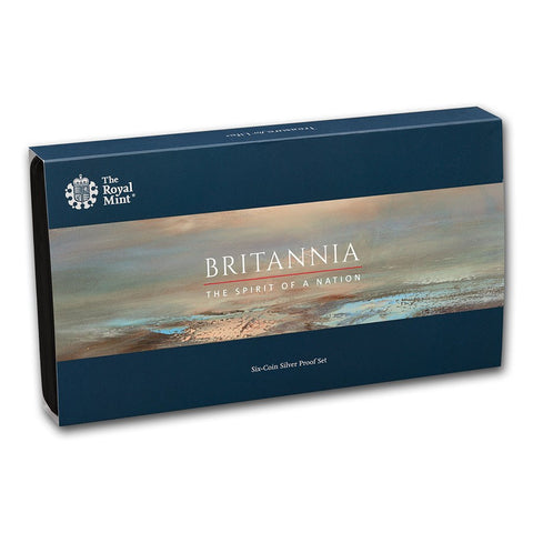 2020 Great Britain 6 Coin Britannia Silver Proof Coin Set