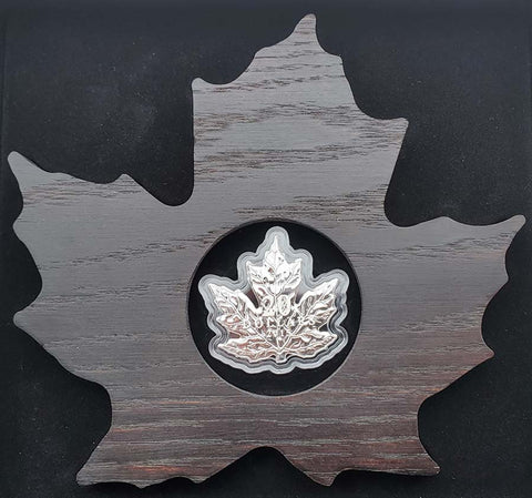 2015 Canada 20th Anniversary Maple Leaf Shaped Silver Proof Coin