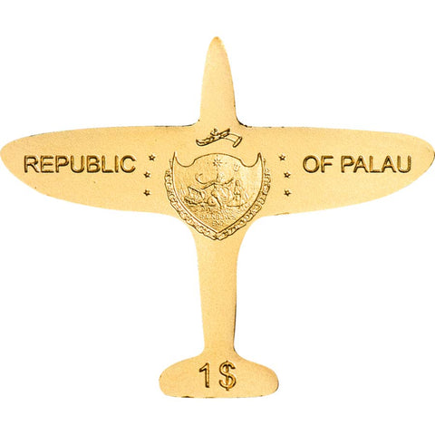 Palau Golden Airplane Gold Coin