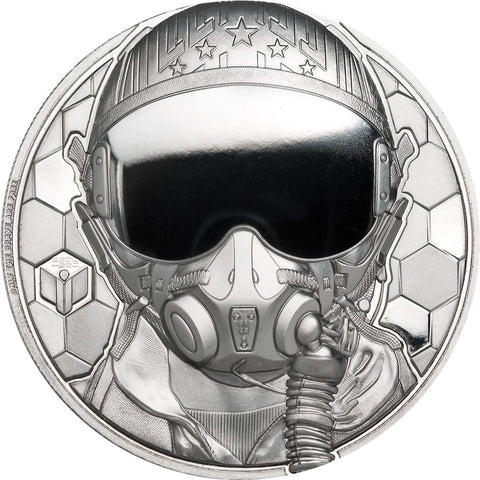 2020 Cook Islands 1 Ounce Real Heroes - Fighter Pilot Ultra High Relief Platinum Proof Coin