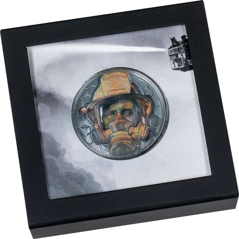 Real Heroes - Firefighter Ultra High Relief Silver Coin
