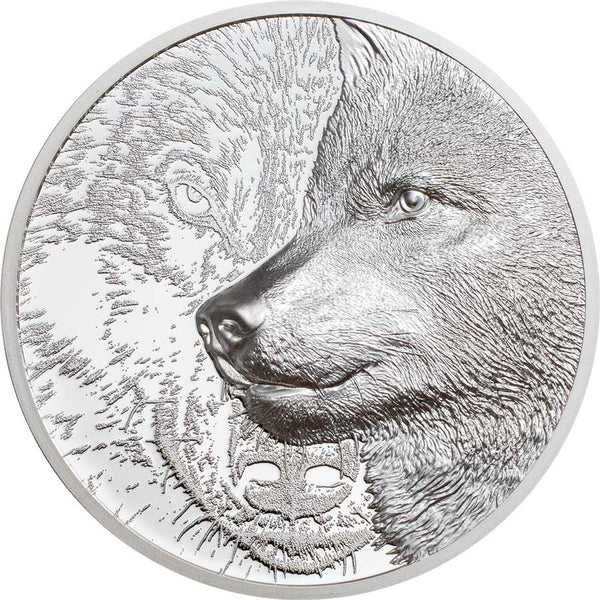 2021 MONGOLIA MYSTIC WOLF ULTRA HIGH RELIEF SILVER PROOF COIN