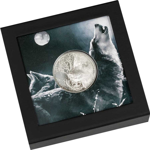 Mystic Wolf Ultra High Relief Silver Proof Coin