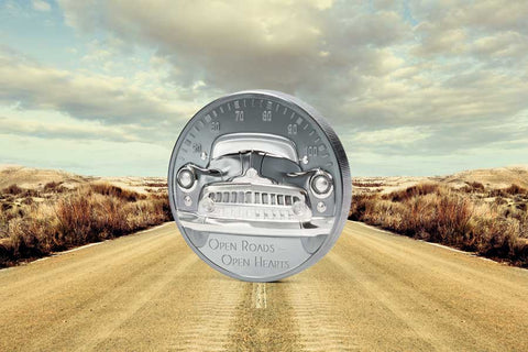 Open Roads - Open Hearts Black Proof Silver Coin