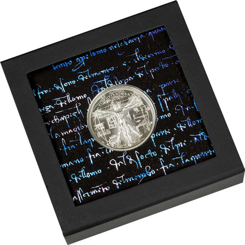 Vitruvian Man X-Ray High Relief Silver Proof Coin