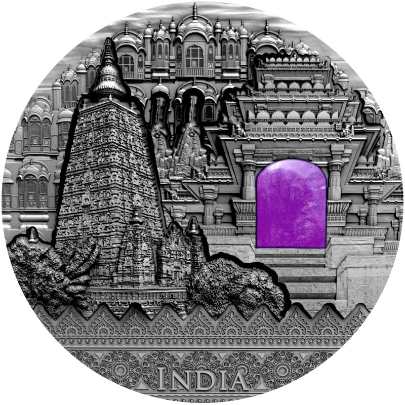2020 Niue 2 Ounce Imperial Art India High Relief Silver Coin