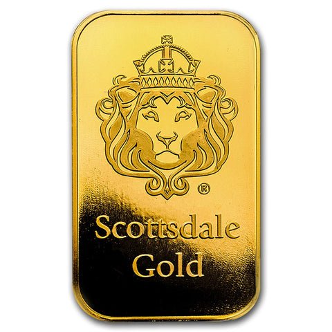 "Scottsdale Mint 2 Gram ""Certi-Lock®"" Gold Bar - Sealed Assay"