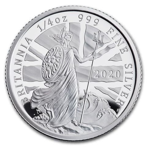 2020 Great Britain 1/4 Ounce Silver Proof Coin