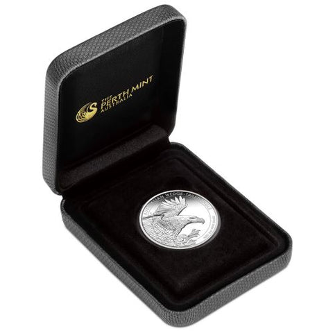 2020 2 Ounce Wedge-Tailed Eagle Piedfort Silver Proof Coin
