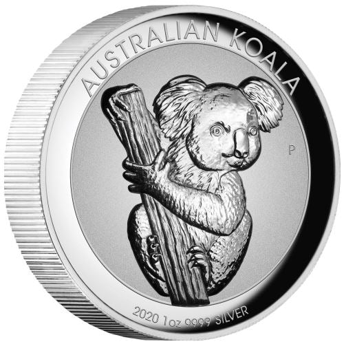2020 Australia 1 Ounce Koala Incused High Relief Silver Coin