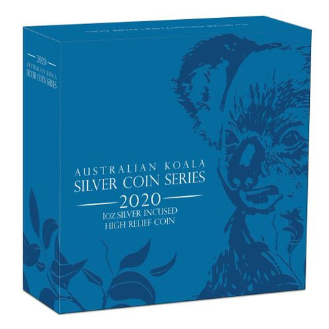 2020 Koala Incused High Relief Silver Coin