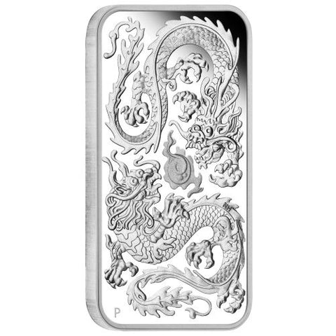 2020 Australia 1 Ounce Dragon Rectangular Silver Proof Coin