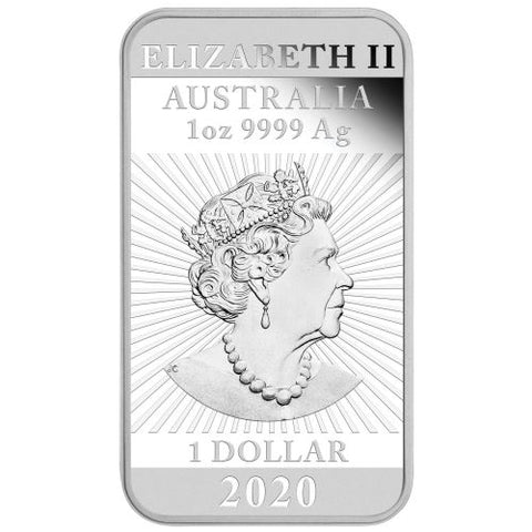 2020 Australia 1 Ounce Dragon Rectangular Silver Coin