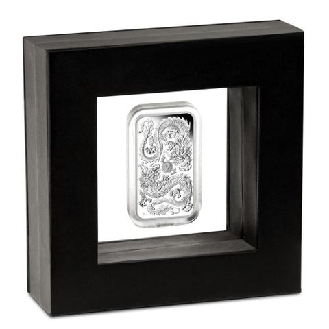2020 Australia 1 Ounce Dragon Rectangular .9999 Silver Proof Coin