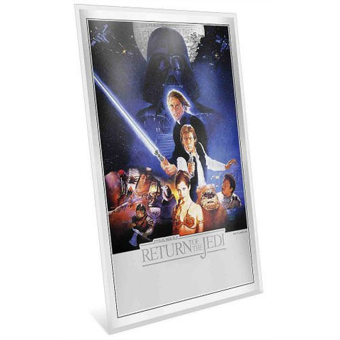 2018 Niue 35 Gram Star Wars:  The Return of the Jedi Premium Silver Poster