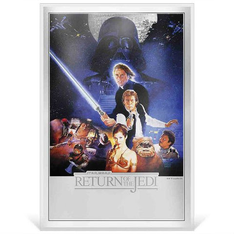 2018 Niue 35 Gram Star Wars:  The Return of the Jedi Premium Silver Foil Note