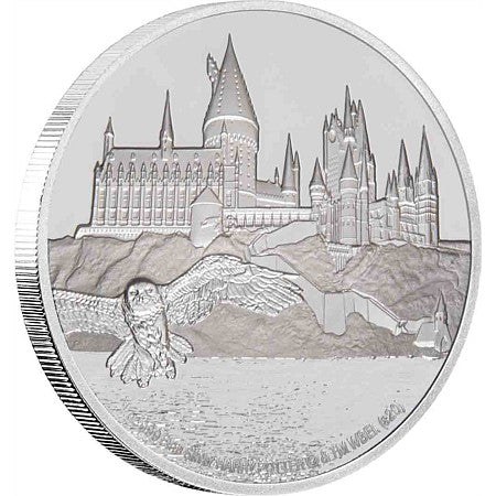 2020 Niue 1 Ounce Harry Potter Hogwarts Castle Silver Proof Coin