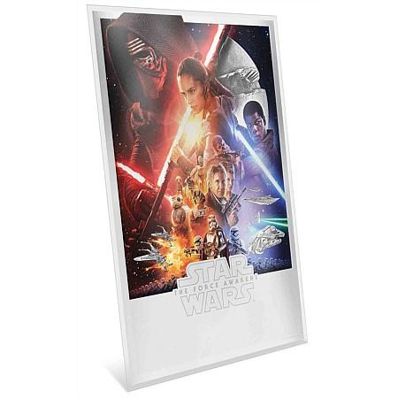 Star Wars:  The Force Awakens Premium Silver Foil Poster