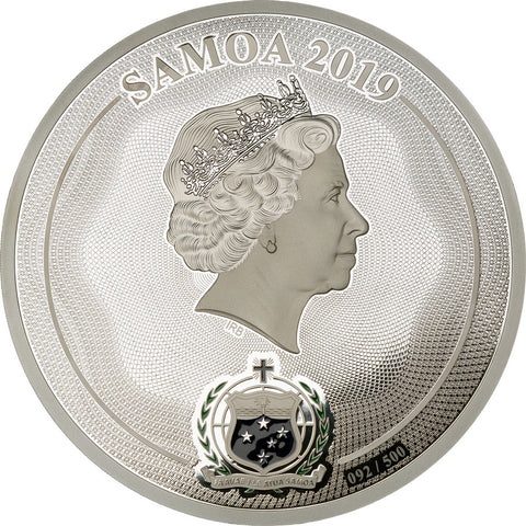 2019 Samoa 1 Kilogram Mastersize Elephant 20th Anniversary Commemorative Proof Like Silver Coin