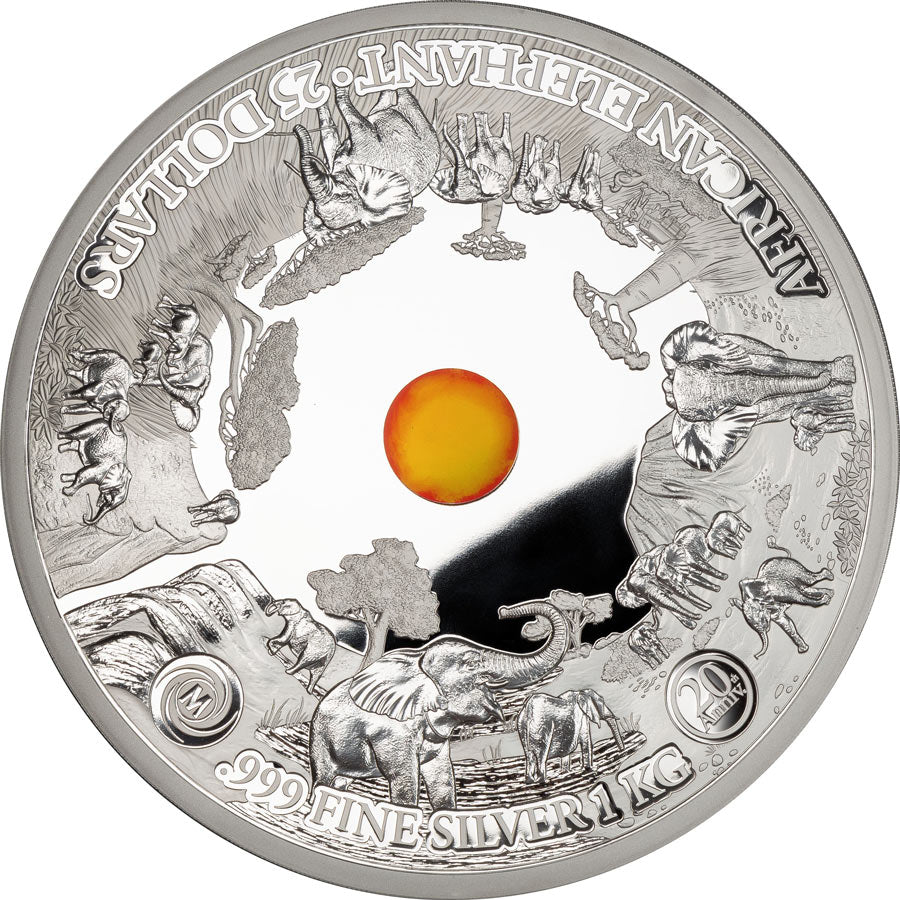 2019 Samoa 1 Kilogram Mastersize Elephant 20th Anniversary Commemorative Silver Coin