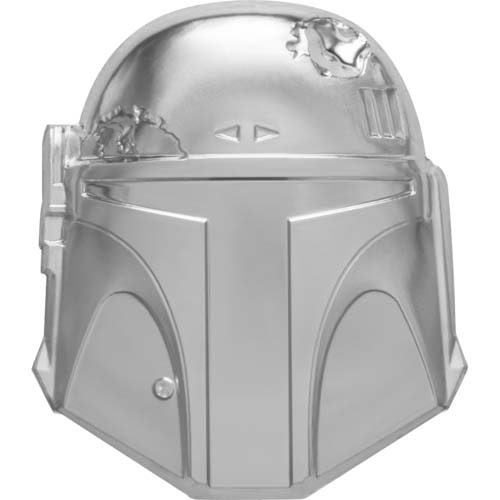 2020 Niue 2 Ounce Boba Fett Star Wars Helmets Ultra High Relief Silver Coin