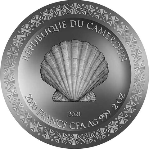 2021 Cameroon 2 Ounce Birth of Venus Celestial Beauty High Relief Silver Coin