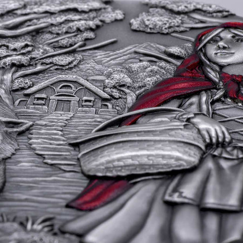 2019 Little Red Riding Hood Ultra High Relief Silver Coin