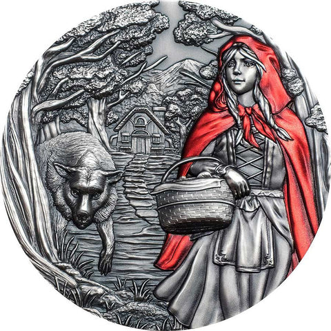 2019 Cook Islands 3 Ounce Little Red Riding Hood Ultra High Relief Silver Coin