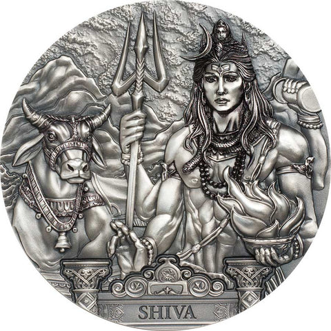 2020 Cook Islands 3 Ounce Shiva Protector of the Universe Silver Coin