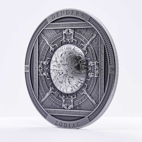 2020 Cook Islands 3 Ounce Dendera Zodiac Silver Coin
