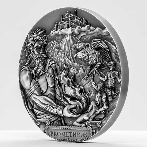 2020 Cook Islands 3 Ounce Titan Promethius Silver Coin