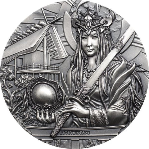 2021 Cook Islands 3 Ounce Amaterasu Goddess of the Sun & Universe Silver Coin