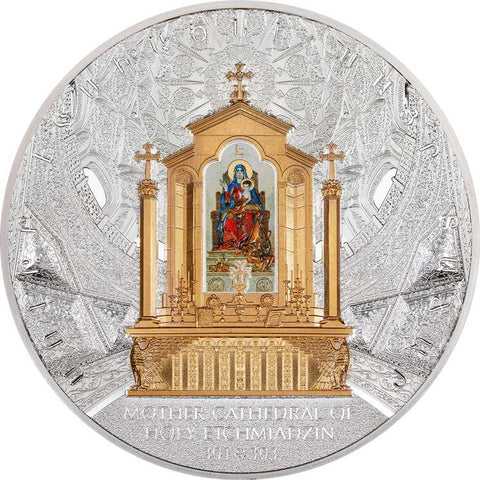 2020 Armenia 1 Kilogram Mother Cathedral of Holy Etchmiadzin Silver Proof Coin