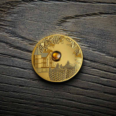 2019 Democratic Congo Spirit Coins - Cognac Gold Proof Coin