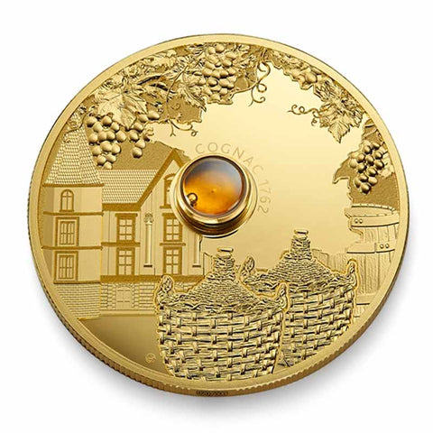 2019 Democratic Congo 2 Ounce Spirit Coins - Cognac Gold Proof Coin