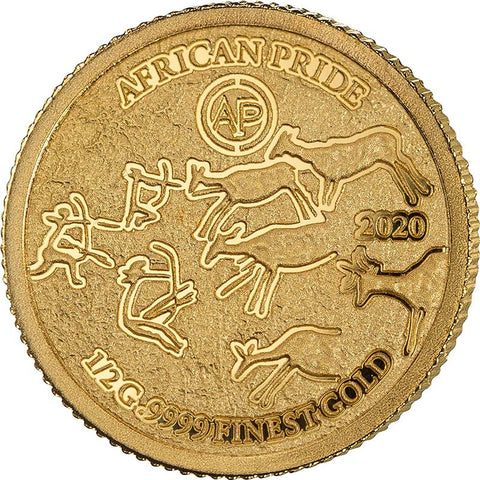 2020 African Pride 7 X 1/2 Gram Cradle of Humankind Gold Coin 3