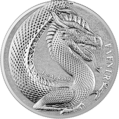2020 Germania 1 Ounce Germania Beasts Fafnir 5 Marks BU Silver Round