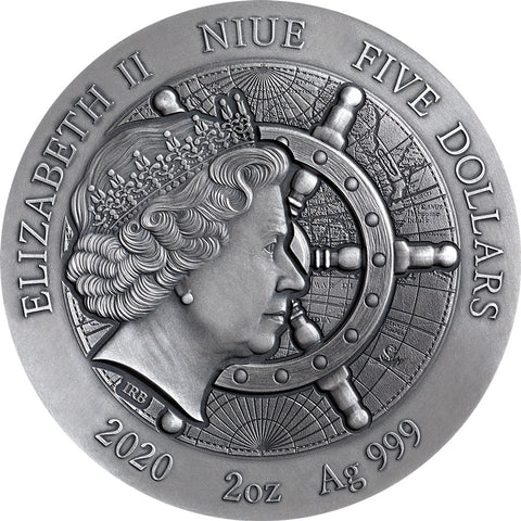 2020 Niue 2 Ounce Titanic Grand Shipwrecks High Relief Silver Coin