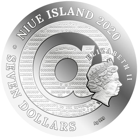 2020 Niue 3 Ounce Matrix Art Gustav Klimt Golden Tears Silver Proof Coin