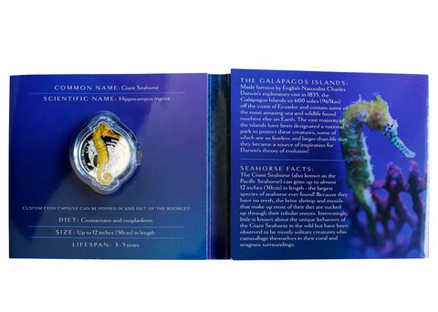 2020 Giants of the Galapagos Seahorse Reverse Proof Silver Coin