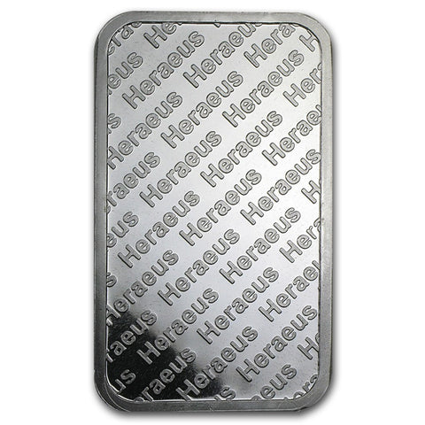 5 Ounce Heraeus .999 Silver Bar