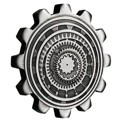 2020 Tuvalu Industry in Motion Antique Finish Silver Coin