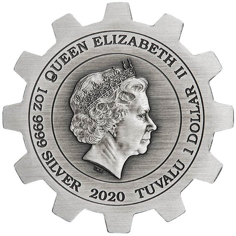 2020 Tuvalu 2 X 1 Ounce Industry in Motion Silver Coin