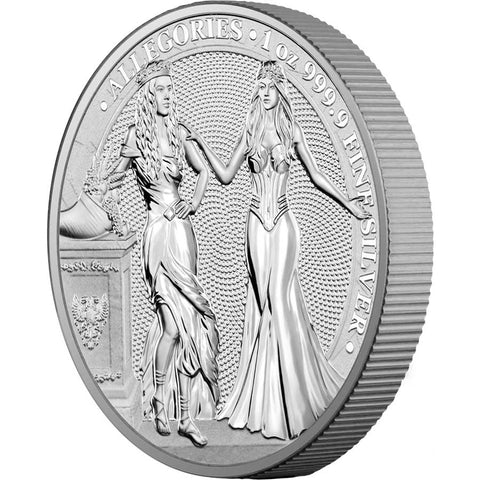 2020 Germania 1 Ounce Allegories Italia & Germania Silver Coin