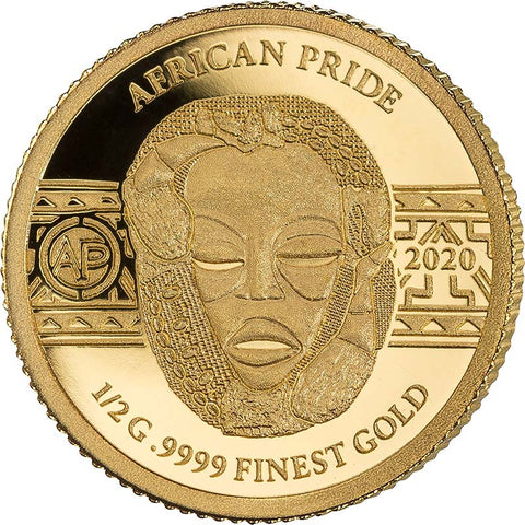 2020 African Pride 7 X 1/2 Gram Cradle of Humankind Gold Coin 5