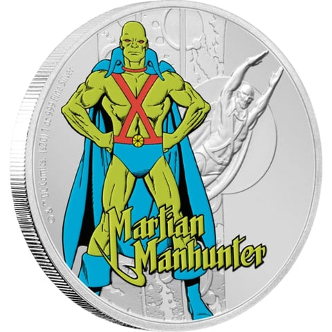 2020 Niue 1 Ounce Justice League 60th Anniversary Martian Manhunter Silver Proof Coin