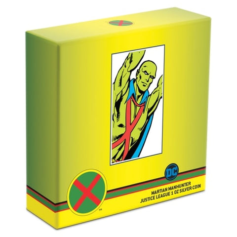 DC Comics Justice League 60th Anniversary Martian Manhunter Silver Proof Coin