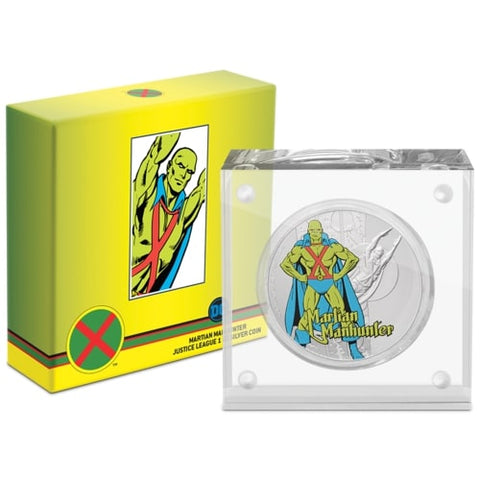 2020 Niue Justice League 60th Anniversary Martian Manhunter Silver Proof Coin