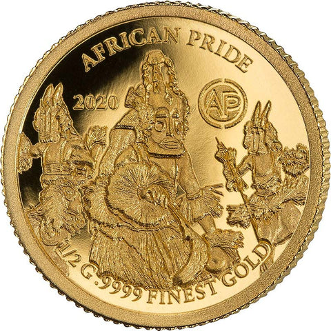 2020 African Pride 14 Nation 7 X 1/2 Gram .9999 Gold Proof Coin 6