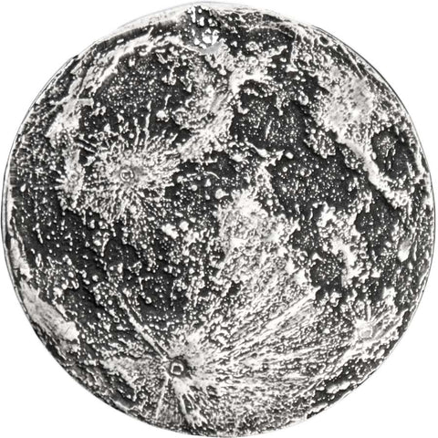 2020 7.08 Gram Earth's Moon Antique Finish .999 Silver Medal